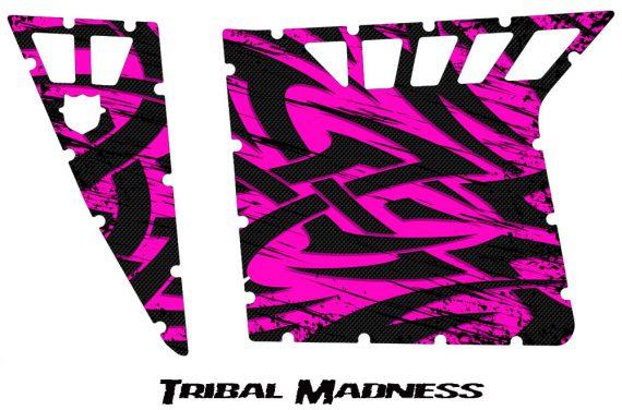 Polaris RZR Pro Armor CreatorX Graphics Tribal Madness Pink 570x376 - Polaris RZR 570 800 900 Pro Armor Door CREATORX Graphics Kit