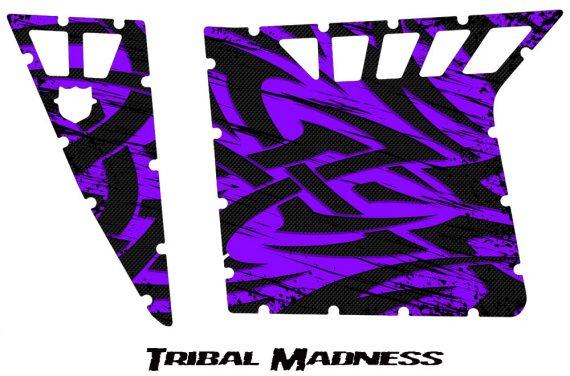 Polaris RZR Pro Armor CreatorX Graphics Tribal Madness Purple 570x376 - Polaris RZR 570 800 900 Pro Armor Door CREATORX Graphics Kit