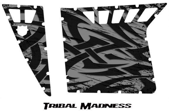 Polaris RZR Pro Armor CreatorX Graphics Tribal Madness Silver 570x376 - Polaris RZR 570 800 900 Pro Armor Door CREATORX Graphics Kit
