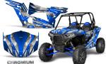 Polaris RZR XP 1000 CREATORX Graphics Kit Chromium Blue 150x90 - Polaris RZR 1000 XP 2013+ Graphics