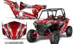 Polaris RZR XP 1000 CREATORX Graphics Kit Chromium Red 150x90 - Polaris RZR 1000 XP 2013+ Graphics