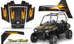 Polaris RZR170 CREATORX Graphics Kit Speed Bolts Black 150x90 - Polaris Youth RZR 170 Graphics