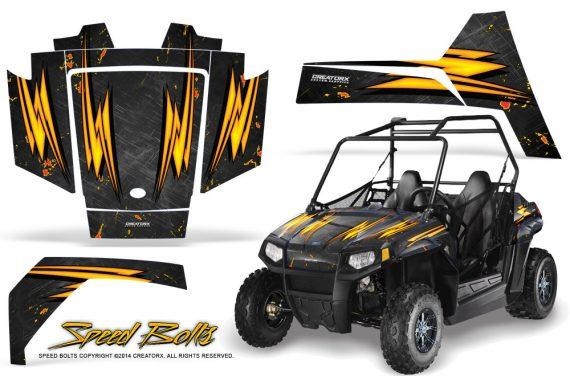 Polaris RZR170 CREATORX Graphics Kit Speed Bolts Black 570x376 - Polaris Youth RZR 170 Graphics