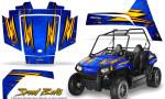 Polaris RZR170 CREATORX Graphics Kit Speed Bolts Blue1 150x90 - Polaris Youth RZR 170 Graphics