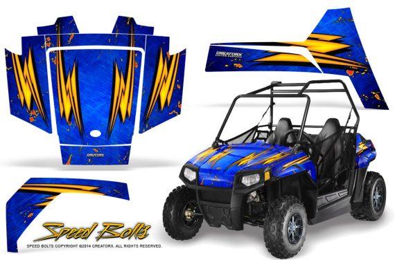 Polaris RZR170 CREATORX Graphics Kit Speed Bolts Blue1 570x376 - Polaris Youth RZR 170 Graphics