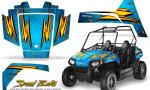 Polaris RZR170 CREATORX Graphics Kit Speed Bolts BlueIce 150x90 - Polaris Youth RZR 170 Graphics