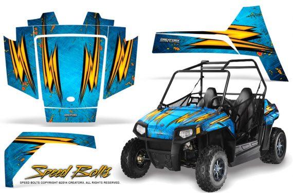 Polaris RZR170 CREATORX Graphics Kit Speed Bolts BlueIce 570x376 - Polaris Youth RZR 170 Graphics