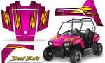 Polaris RZR170 CREATORX Graphics Kit Speed Bolts Pink 150x90 - Polaris Youth RZR 170 Graphics