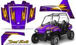 Polaris RZR170 CREATORX Graphics Kit Speed Bolts Purple 150x90 - Polaris Youth RZR 170 Graphics