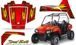Polaris RZR170 CREATORX Graphics Kit Speed Bolts Red 150x90 - Polaris Youth RZR 170 Graphics