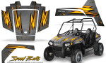 Polaris RZR170 CREATORX Graphics Kit Speed Bolts Silver 150x90 - Polaris Youth RZR 170 Graphics