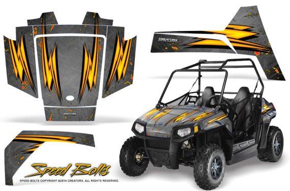Polaris RZR170 CREATORX Graphics Kit Speed Bolts Silver 570x376 - Polaris Youth RZR 170 Graphics