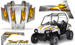 Polaris RZR170 CREATORX Graphics Kit Speed Bolts White 150x90 - Polaris Youth RZR 170 Graphics