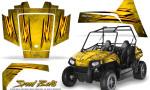 Polaris RZR170 CREATORX Graphics Kit Speed Bolts Yellow 150x90 - Polaris Youth RZR 170 Graphics