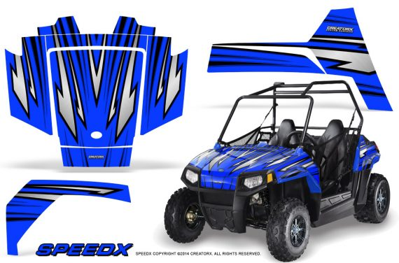 Polaris RZR170 CREATORX Graphics Kit SpeedX Blue 570x376 - Polaris Youth RZR 170 Graphics