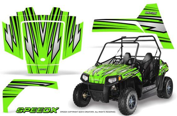 Polaris RZR170 CREATORX Graphics Kit SpeedX Green 570x376 - Polaris Youth RZR 170 Graphics