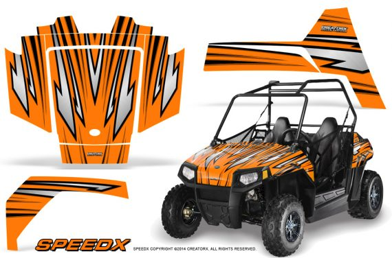 Polaris RZR170 CREATORX Graphics Kit SpeedX Orange 570x376 - Polaris Youth RZR 170 Graphics