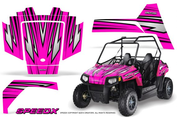 Polaris RZR170 CREATORX Graphics Kit SpeedX Pink 570x376 - Polaris Youth RZR 170 Graphics