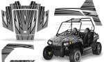 Polaris RZR170 CREATORX Graphics Kit SpeedX Silver 150x90 - Polaris Youth RZR 170 Graphics