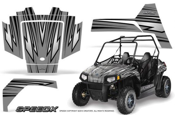 Polaris RZR170 CREATORX Graphics Kit SpeedX Silver 570x376 - Polaris Youth RZR 170 Graphics