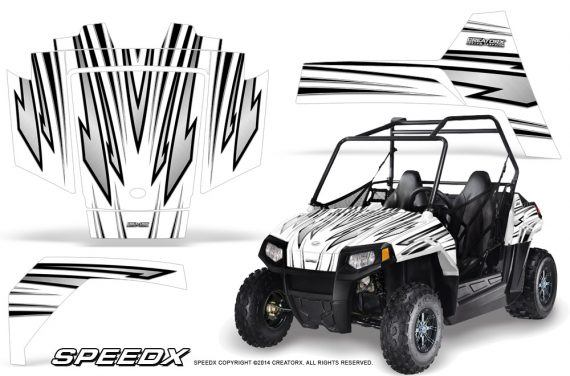 Polaris RZR170 CREATORX Graphics Kit SpeedX White 570x376 - Polaris Youth RZR 170 Graphics