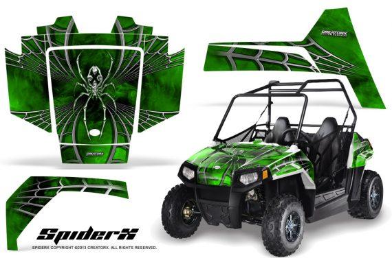 Polaris RZR170 CREATORX Graphics Kit SpiderX Green 570x376 - Polaris Youth RZR 170 Graphics