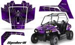 Polaris RZR170 CREATORX Graphics Kit SpiderX Purple 150x90 - Polaris Youth RZR 170 Graphics