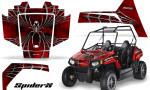 Polaris RZR170 CREATORX Graphics Kit SpiderX Red 150x90 - Polaris Youth RZR 170 Graphics