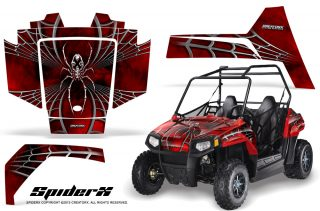 Polaris RZR170 CREATORX Graphics Kit SpiderX Red 320x211 - Polaris Youth RZR 170 Graphics