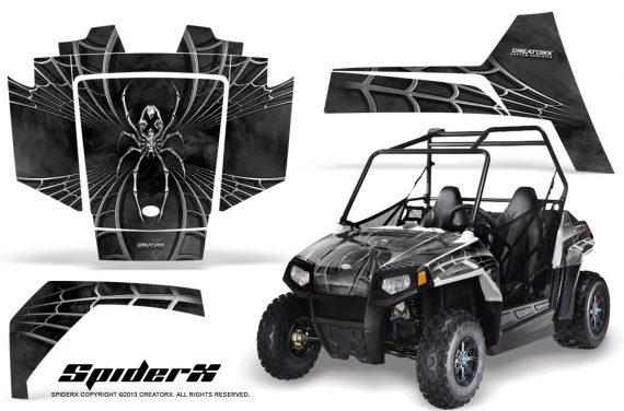 Polaris RZR170 CREATORX Graphics Kit SpiderX Silver 570x376 - Polaris Youth RZR 170 Graphics