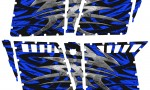 Polaris RZR4 Pro Armor Doors CreatorX Graphics Kit Bolt Thrower Blue 150x90 - Polaris RZR4 800 900 Pro Armor 4 Door CREATORX Graphics