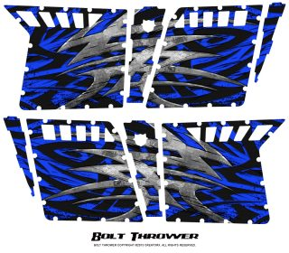 Polaris RZR4 Pro Armor Doors CreatorX Graphics Kit Bolt Thrower Blue 320x280 - Polaris RZR4 800 900 Pro Armor 4 Door CREATORX Graphics