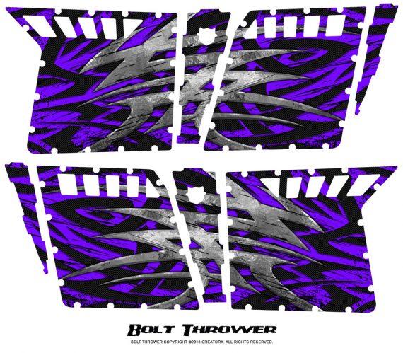Polaris RZR4 Pro Armor Doors CreatorX Graphics Kit Bolt Thrower Purple 570x499 - Polaris RZR4 800 900 Pro Armor 4 Door CREATORX Graphics