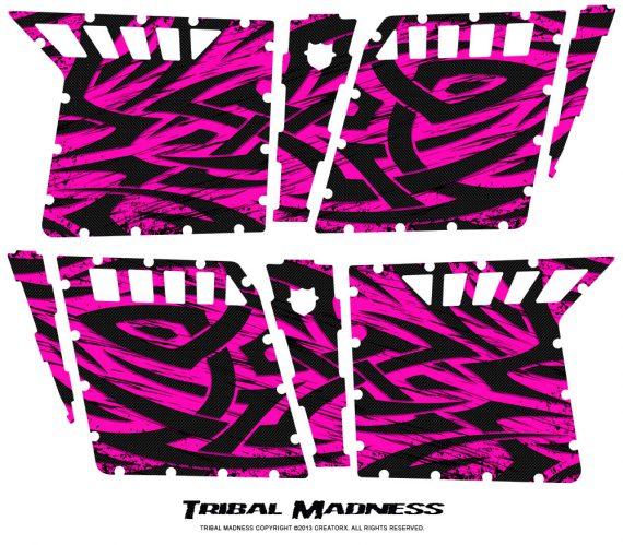 Polaris RZR4 Pro Armor Doors CreatorX Graphics Kit Tribal Madness Pink 570x499 - Polaris RZR4 800 900 Pro Armor 4 Door CREATORX Graphics