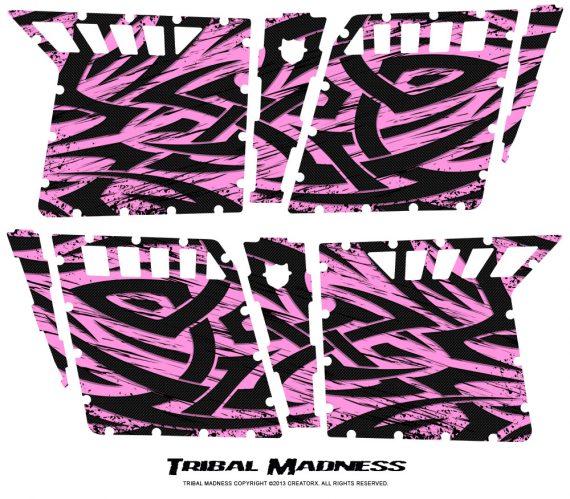 Polaris RZR4 Pro Armor Doors CreatorX Graphics Kit Tribal Madness PinkLite 570x499 - Polaris RZR4 800 900 Pro Armor 4 Door CREATORX Graphics