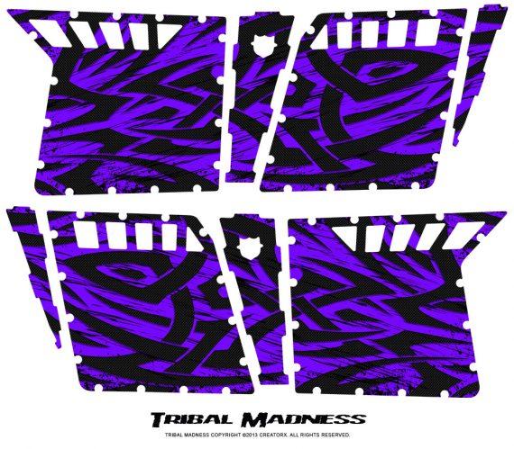 Polaris RZR4 Pro Armor Doors CreatorX Graphics Kit Tribal Madness Purple 570x499 - Polaris RZR4 800 900 Pro Armor 4 Door CREATORX Graphics