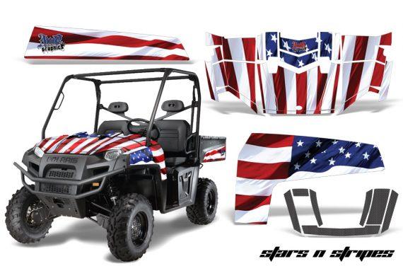 Polaris Ranger XP 10 AMR Graphic Kit StarsNStripes 570x376 - Polaris Ranger XP 500 800 900D 4x4 EFI 2010-2014 Graphics