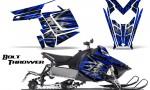 Polaris Rush CreatorX Graphics Kit Bolt Thrower Blue 150x90 - Polaris PRO RMK RUSH 2011-2014 Graphics