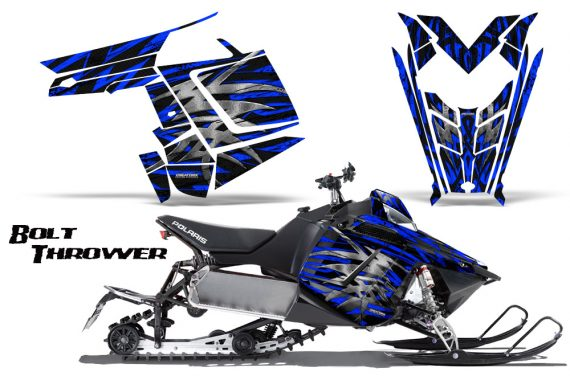 Polaris Rush CreatorX Graphics Kit Bolt Thrower Blue 570x376 - Polaris PRO RMK RUSH 2011-2014 Graphics