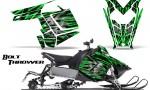 Polaris Rush CreatorX Graphics Kit Bolt Thrower Green 150x90 - Polaris PRO RMK RUSH 2011-2014 Graphics