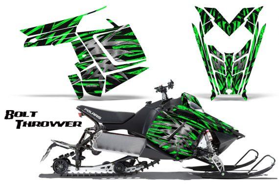 Polaris Rush CreatorX Graphics Kit Bolt Thrower Green 570x376 - Polaris PRO RMK RUSH 2011-2014 Graphics