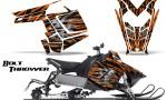Polaris Rush CreatorX Graphics Kit Bolt Thrower Orange 150x90 - Polaris PRO RMK RUSH 2011-2014 Graphics