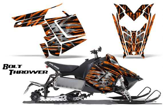 Polaris Rush CreatorX Graphics Kit Bolt Thrower Orange 570x376 - Polaris PRO RMK RUSH 2011-2014 Graphics