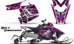 Polaris Rush CreatorX Graphics Kit Bolt Thrower Pink 150x90 - Polaris PRO RMK RUSH 2011-2014 Graphics