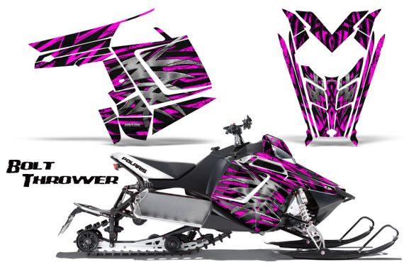 Polaris Rush CreatorX Graphics Kit Bolt Thrower Pink 570x376 - Polaris PRO RMK RUSH 2011-2014 Graphics