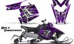 Polaris Rush CreatorX Graphics Kit Bolt Thrower Purple 150x90 - Polaris PRO RMK RUSH 2011-2014 Graphics