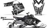 Polaris Rush CreatorX Graphics Kit Bolt Thrower Silver 150x90 - Polaris PRO RMK RUSH 2011-2014 Graphics