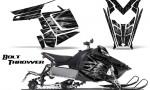 Polaris Rush CreatorX Graphics Kit Bolt Thrower SilverDark 150x90 - Polaris PRO RMK RUSH 2011-2014 Graphics