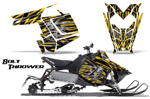 Polaris Rush CreatorX Graphics Kit Bolt Thrower Yellow 570x376 - Polaris PRO RMK RUSH 2011-2014 Graphics