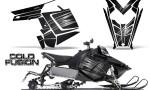 Polaris Rush CreatorX Graphics Kit Cold Fusion Black 150x90 - Polaris PRO RMK RUSH 2011-2014 Graphics